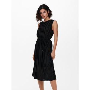 Čierne plisované šaty ONLY vyobraziť