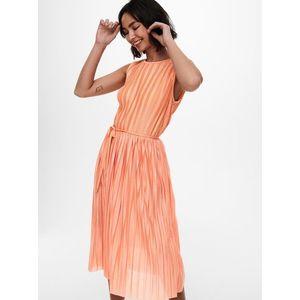 Oranžové plisované šaty ONLY vyobraziť