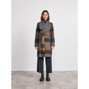 Dámsky kockovaný kabát - S vyobraziť