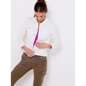 Ľahké bundy pre ženy CAMAIEU - biela vyobraziť