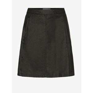 Čierna koženková sukňa Noisy May Peri vyobraziť