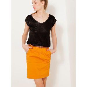 Oranžová rifľová sukňa CAMAIEU vyobraziť