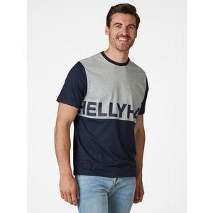 Modré pánske tričko s potlačou HELLY HANSEN vyobraziť