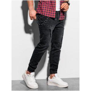 Pánske džínsové nohavice JOGGER čierne vyobraziť