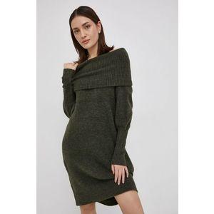 Zelené pletené šaty - S vyobraziť