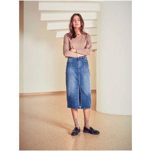 Modrá dámska rifľová sukňa ICHI vyobraziť